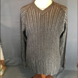 KENNETH COLE New York two-tone knit sweater